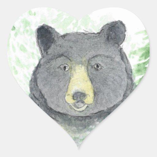 teddy bear heart sticker