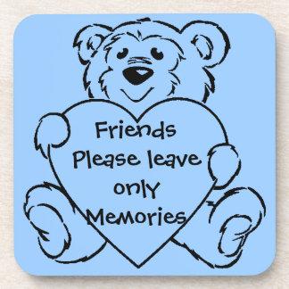Teddy Bear Hearts Drink Coaster