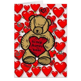 Teddy Bear Hearts Greeting Card