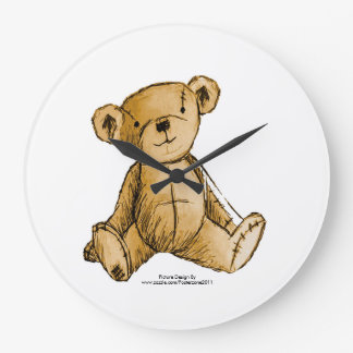 Teddy Bear image for round-large-wall-clock Wall Clock