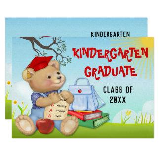 Teddy Bear Kindergarten Graduation Party Card