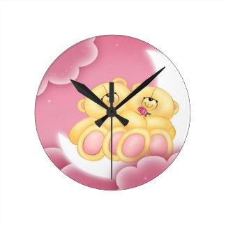 Teddy Bear Love Wallclock