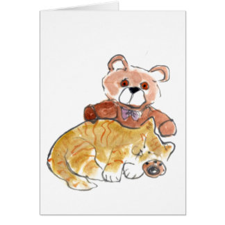 Teddy Bear Nap Card