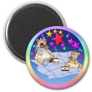 Teddy Bear Picnic 6 Cm Round Magnet