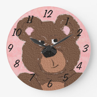 Teddy Bear (pink) Wallclock
