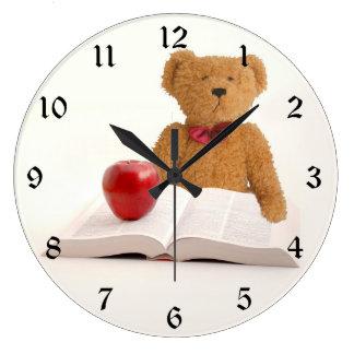 Teddy bear teacher wallclock