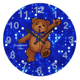 Teddy Bear Time for Boys Wallclock