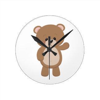 Teddy Bear Waving Clocks