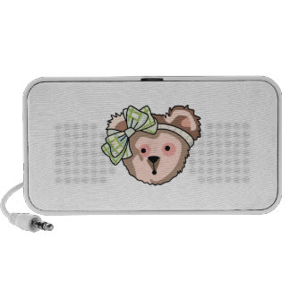TEDDY BEAR WITH BOW PORTABLE SPEAKERS