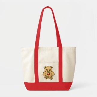 Teddy Bear With Heart Impulse Tote Bag
