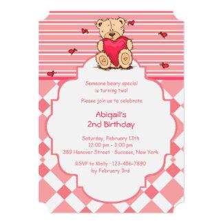 Teddy Bear With Heart Invitation