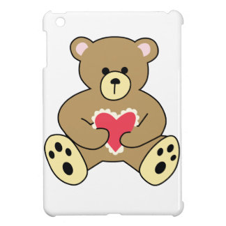 TEDDY BEAR WITH HEART iPad MINI COVER