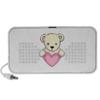 Teddy Bear With Heart Travel Speakers