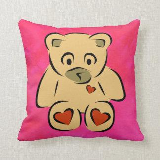 Teddy Bear with hearts Pillows