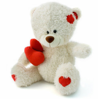Teddy Bear with Hearts Magnet Photo Sculpture Magnet