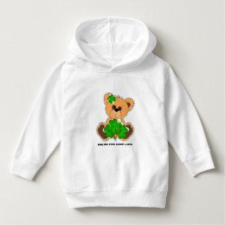 Teddy Bear with Shamrocks St.Patrick's Day Hoodie