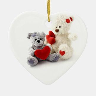 Teddy Bears Heart Christmas Ornament