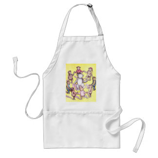 Teddy Bears Play Ring Around the Rosie Standard Apron