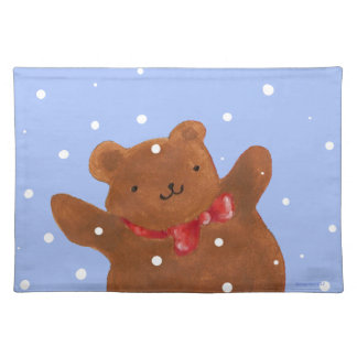 Teddy in Snow Placemat