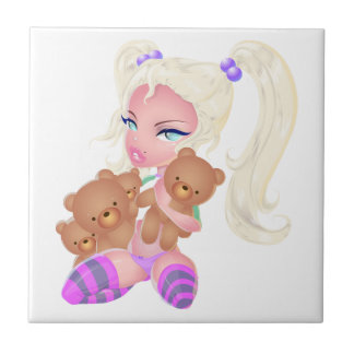 Teddy Love Small Square Tile