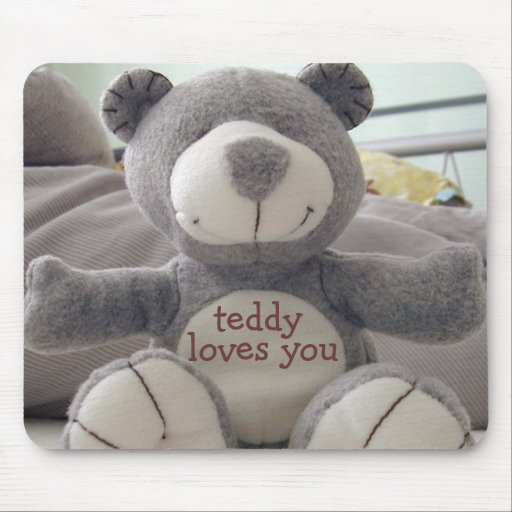 Teddy Loves You-Mousepad