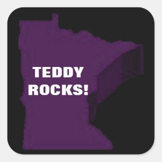 TEDDY ROCKS! SQUARE STICKER