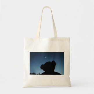 Teddy Sees The Moon Tote Bag