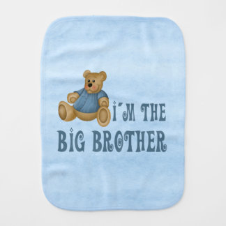 Teddybear Big Brother Burp Cloth