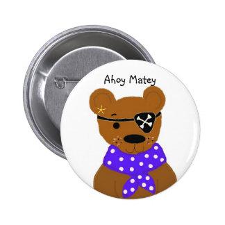 Teddybear Pirate Button