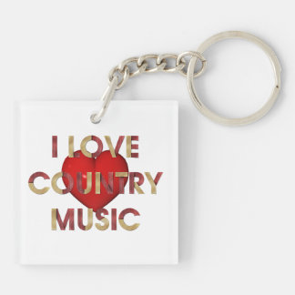 TEE Eye Love Country Music Key Ring