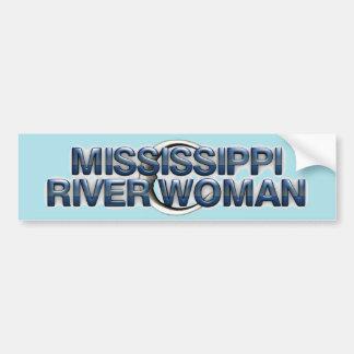 TEE Mississippi River Woman Bumper Sticker