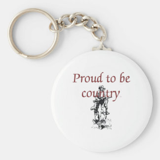 TEE Proud to be Country Key Ring
