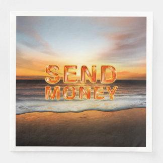 TEE Send Money Disposable Napkin