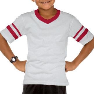 Tee-shirt short sleeve has red stripes tees