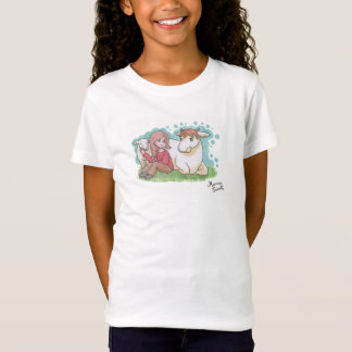 Tee-shirt vegan, girl, cow and her calf T-Shirt