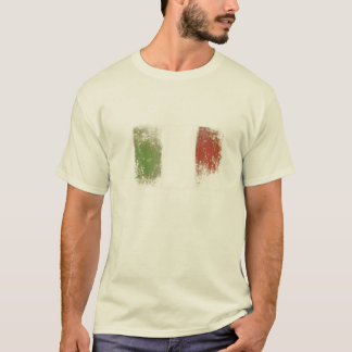 Tee with Dirty Vintage Italy Flag