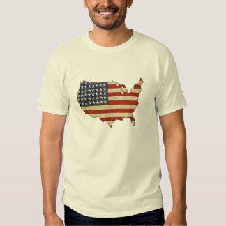 Tee with Vintage American Flag