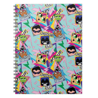 Teen Titans Go! | Retro 90's Group Collage Spiral Notebook