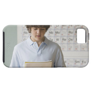 Teenaged boy giving speech in science class tough iPhone 5 case