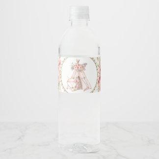 TeePee Fox Baby Shower Water Bottle Labels