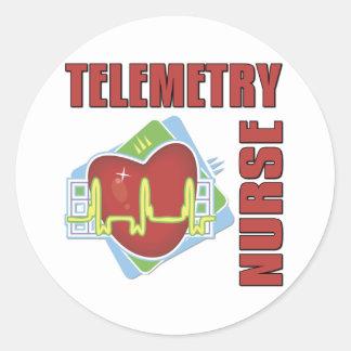 Telemetry Nurse Round Sticker