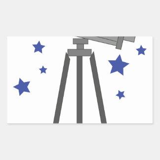 Telescope Rectangular Sticker
