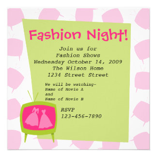 Television Fashion Moments 2 Personalized Invites