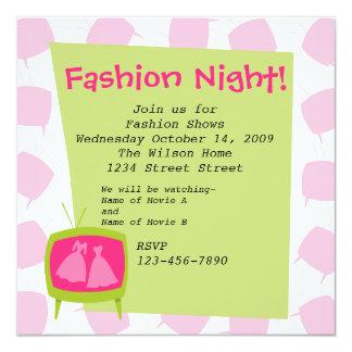 """Television Fashion Moments 2 5.25"""" Square Invitation Card"""