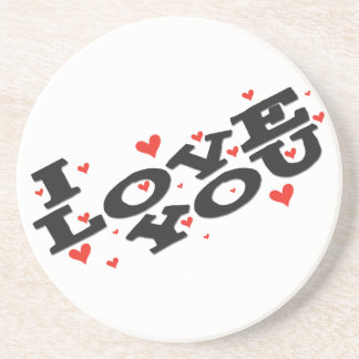 Tell someone you love them - Customisable Beverage Coasters