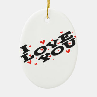 Tell someone you love them - Customisable Ceramic Oval Decoration
