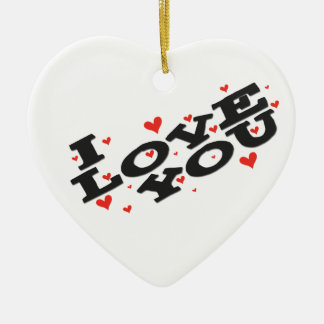 Tell someone you love them - Customisable Christmas Ornaments