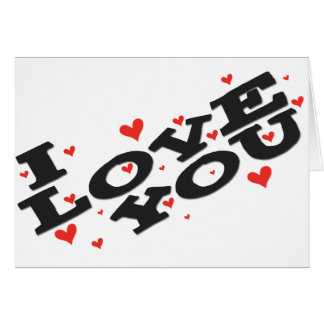 Tell someone you love them - Customisable Greeting Card