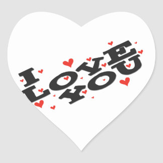 Tell someone you love them - Customisable Heart Sticker