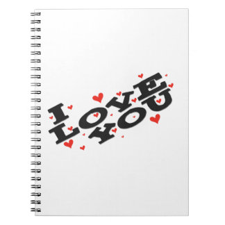 Tell someone you love them - Customisable Spiral Notebooks